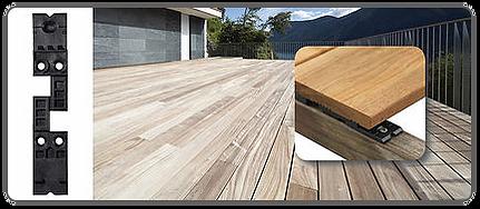 Hidden deck fastener - Hapax Fixing Pro
