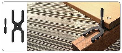 Zichtbare terrasbevestiging - Hapax D-Pro