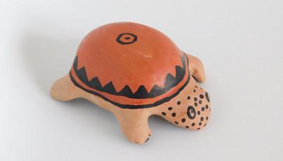 Peça zoomorfa de cerâmica Wauja