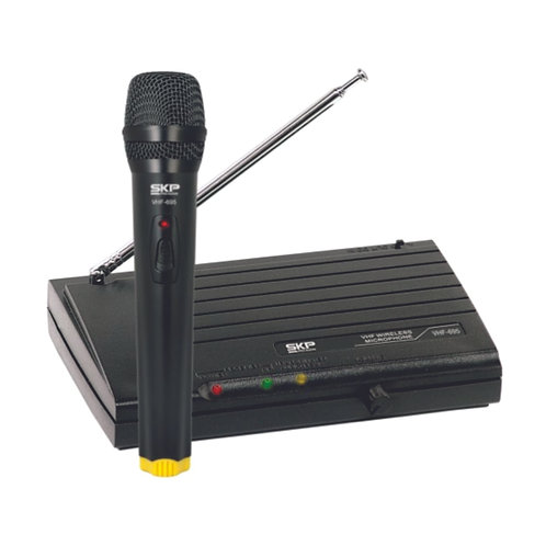 MICROFONE S/ FIO SKP VHF-695