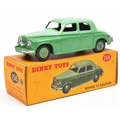 Dinky Toys Rover 75 Saloon - Example in two tone green#156