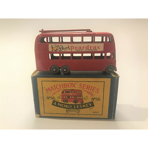 MATCHBOX REGULAR WHEELS LONDON TROLLEYBUS - GMW - #MB56