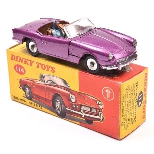 Dinky Toys Triumph Spitfire - Purple -#114