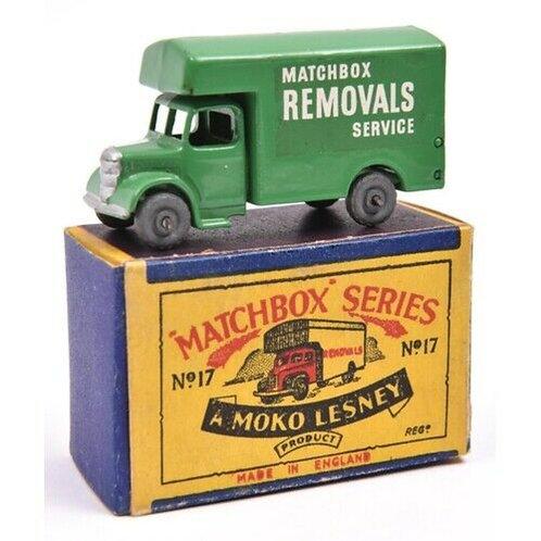 MATCHBOX REGULAR WHEELS BEDFORD REMOVAL VAN - GREEN - GMW -  #MB17