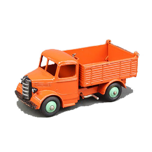Dinky Bedford End Tipper Truck -orange/light green hubs - #25M