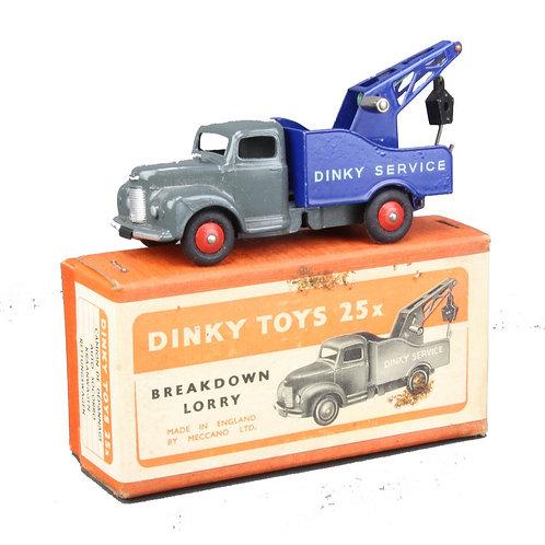 Dinky Commer breakdown truck - grey/royal blue- #25X