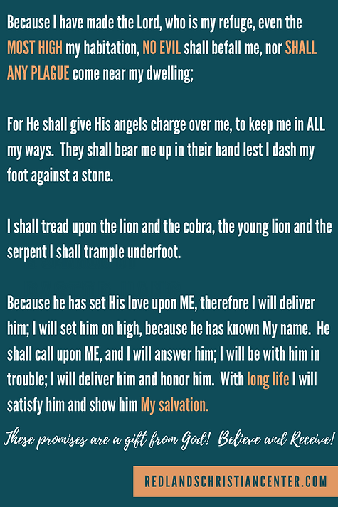 Psalm 91 card