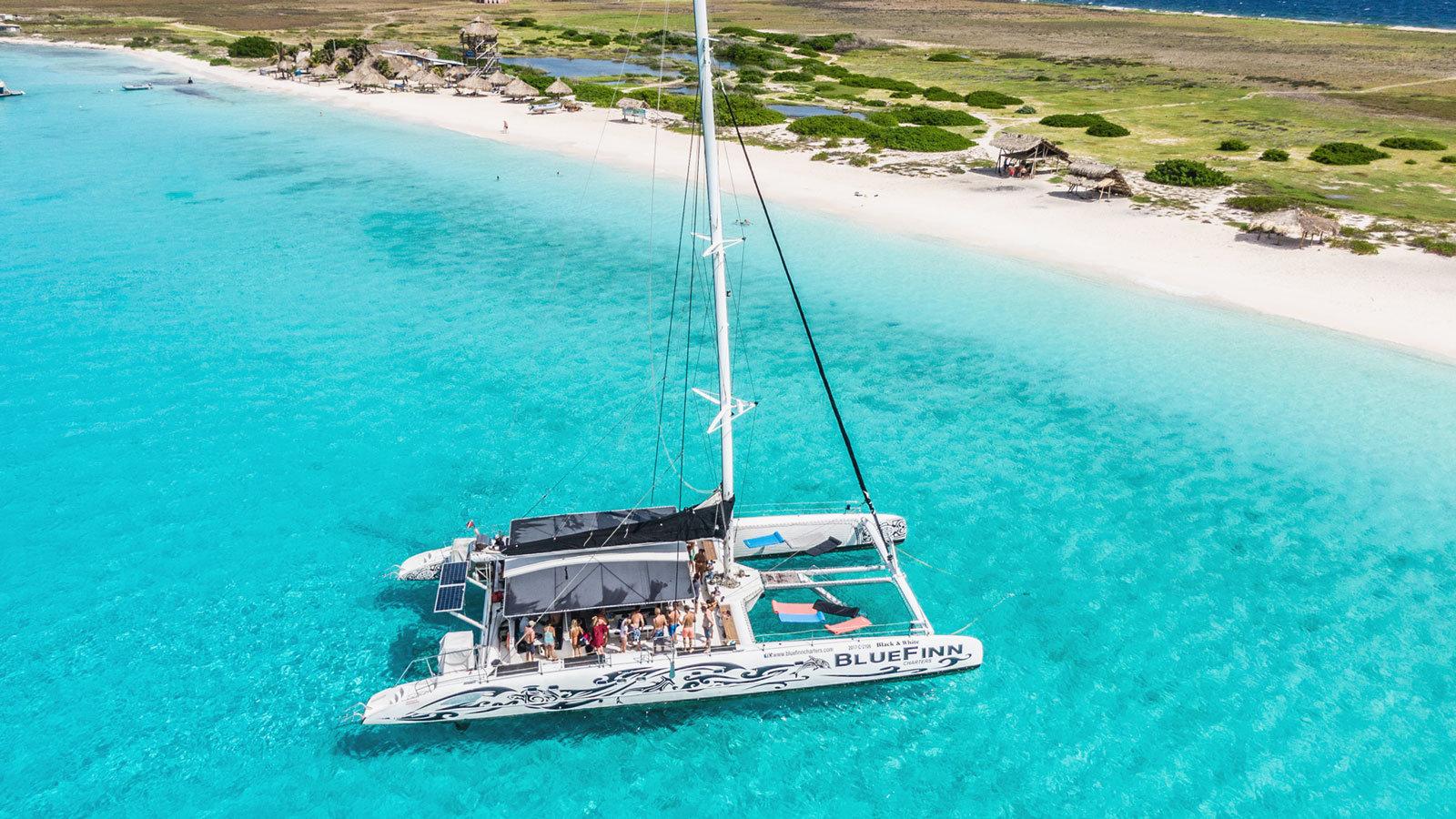 Catamaran naar Klein Curacao