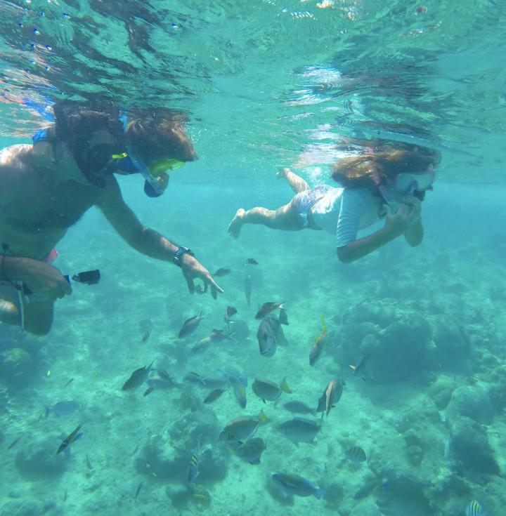 Di Luca goes snorkeling