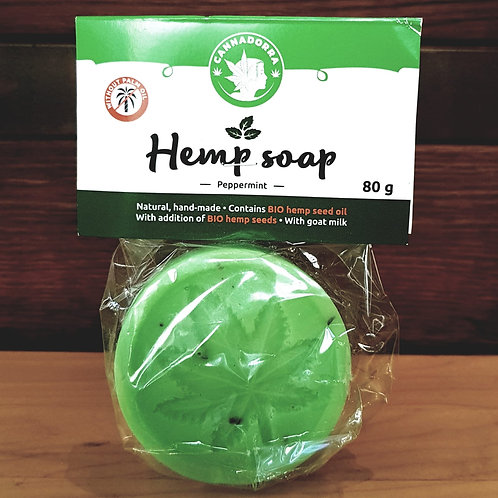 Hand made natural hemp soap - Peppermint