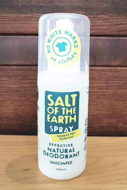 SALT OF THE EARTH Natural deodorant unscented spray