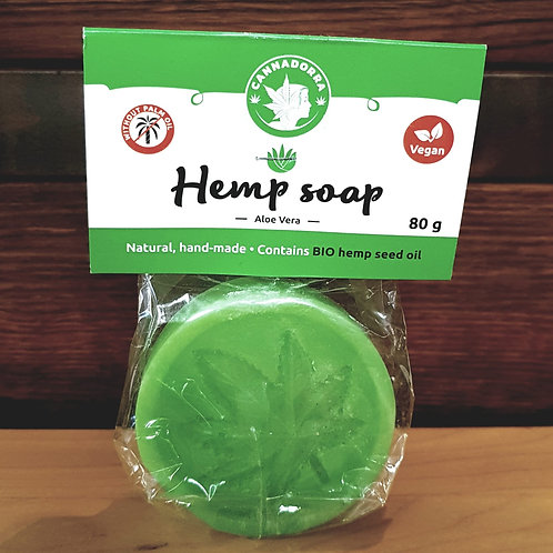 Hand made natural hemp soap - Aloe Vera
