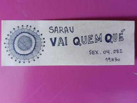 Na sexta, 4/12, tem mais Sarau VQQ!