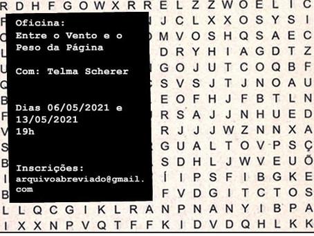 Literatura e artes visuais numa oficina com Telma Scherer