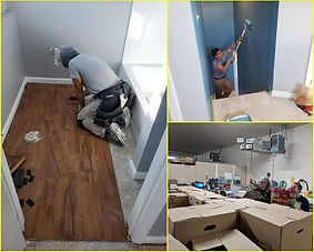 Our team at work restoring, cleaning and painting.