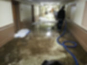 Hospital water damage cleanup.