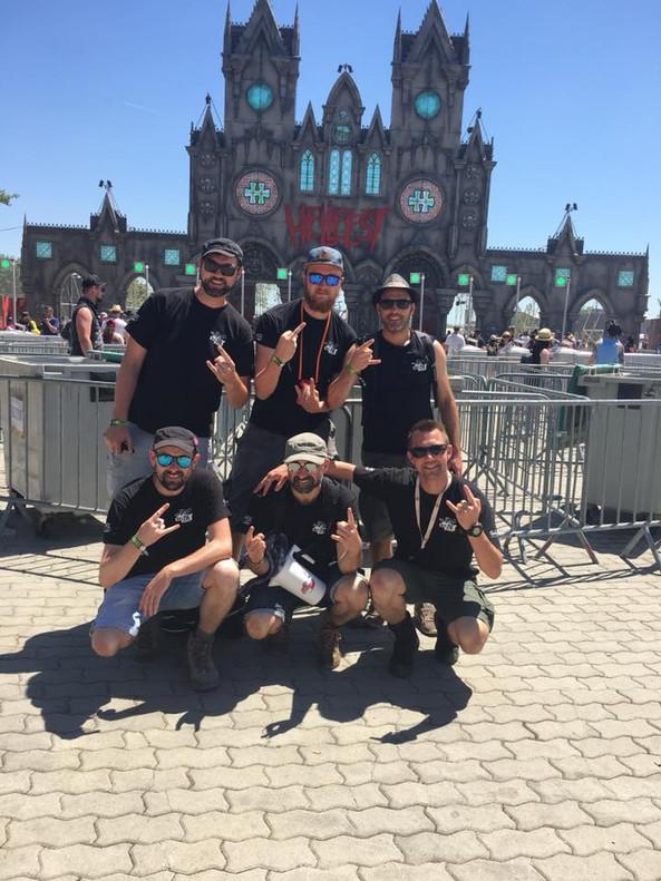 Une partie de l'équipe de MOTS ZIK au Hell Fest à Clisson !