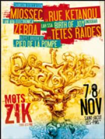 Affiche Mots Zik 2014