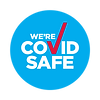 Blue COVID Safe Badge