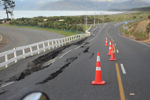 The day after the magnatude 7.8 kaikoura earthquake