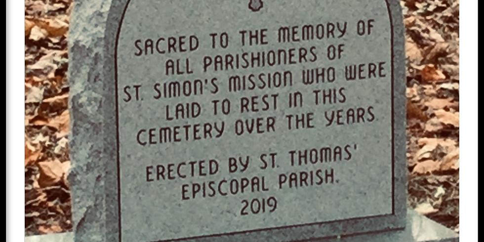 Dedication of St. Simon's Cemetery Memorial