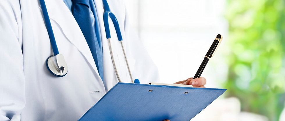 doctor is examing patients at a hospital