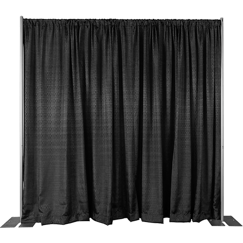 Velveteen Light-Weight Drape Black (3m Wide, 6m Drop)