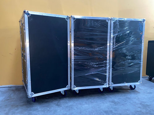 New (Unused) 16RU Rack Case w/ Mixer Top Incl. Side Table & Castors