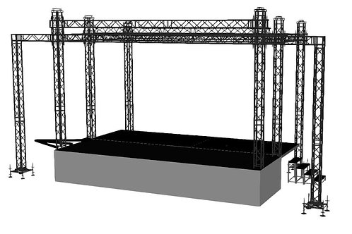 FOHP Mobile Stage 8.1m x 4.8m Stage With Wings