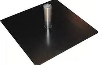 Autopole Drape Stand - 500mm Square Base Plate (Incl. Spigot)