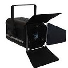 Fresnel With Barndoors 1000w Black