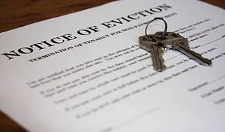 Notice of eviction with keys
