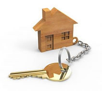 House keychain with key
