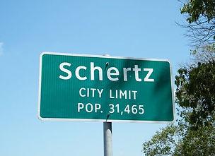 Schertz City Limit sign