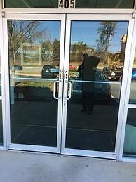 Store front door lock out