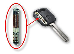 Transponder example with key
