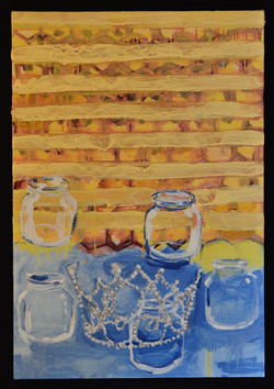 Blue Water Empty Jars