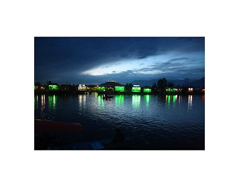 Night View Dal Lake