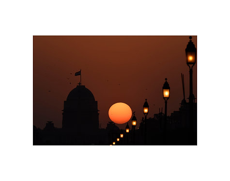 Sunset Rajpath