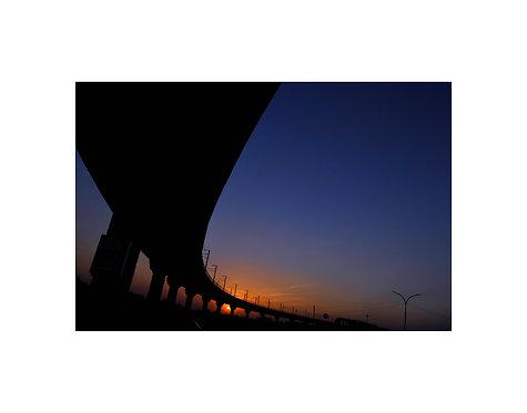 Sunset over flyover