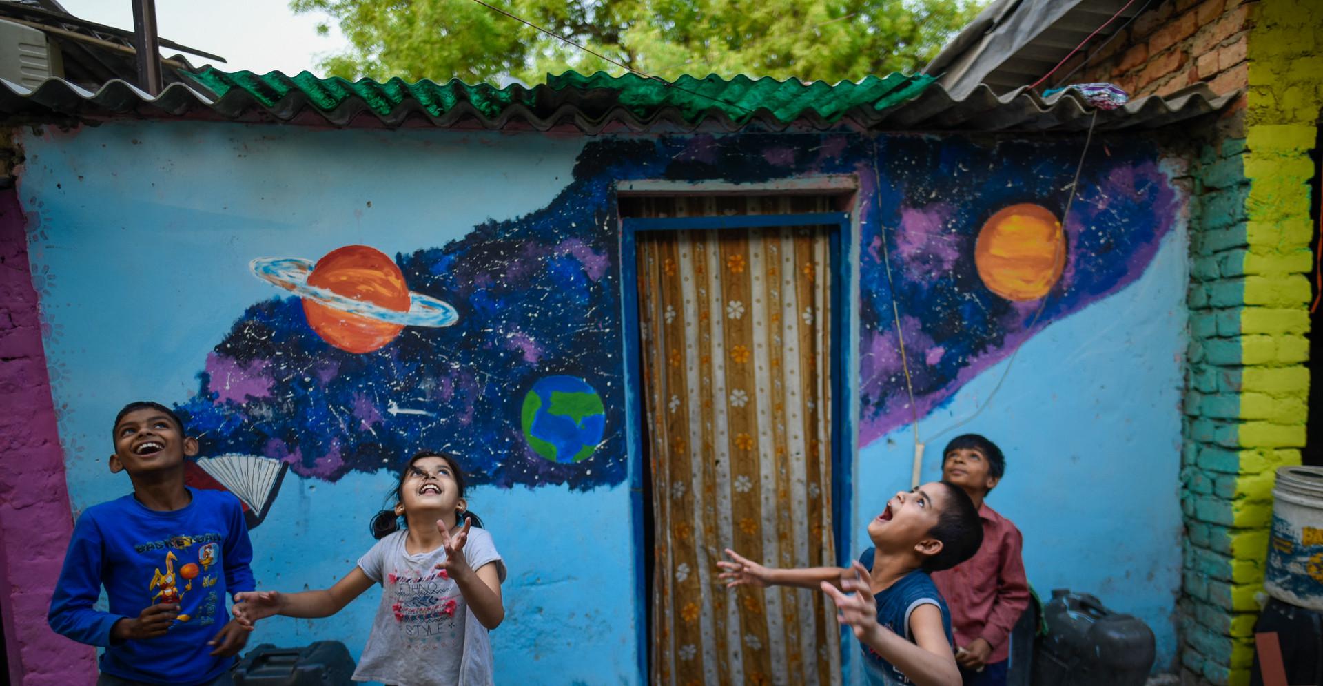 Slum Children - Delhi