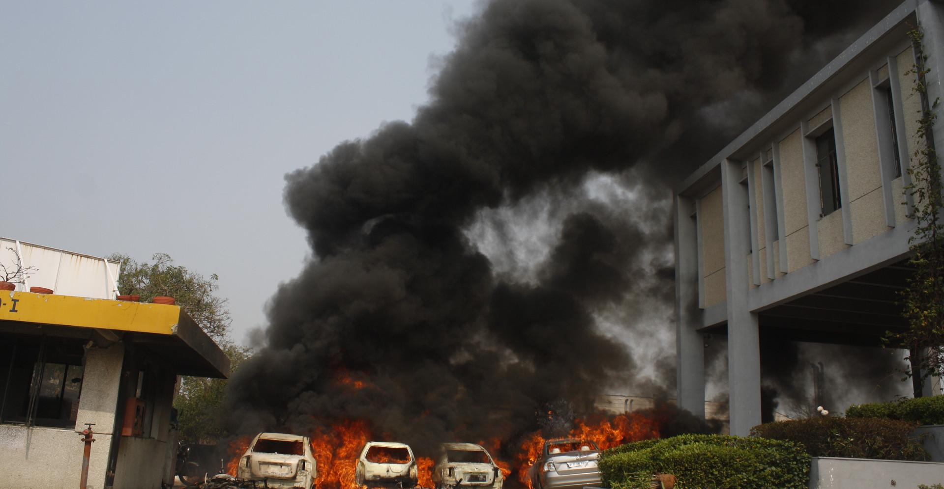 Violent Protests - Noida