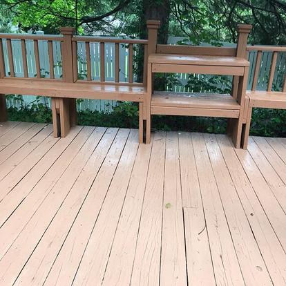 Opening in decks