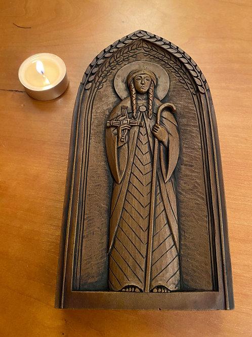 Limited Edition St Brigid of Kildare wall plaque