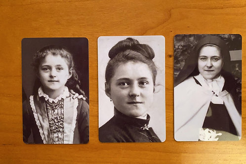 St Therese Wallet Cards