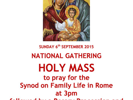 National Mass for the Synod on Family Life