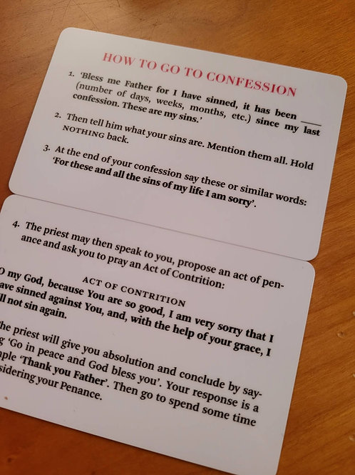 How to Go to Confession Wallet Card