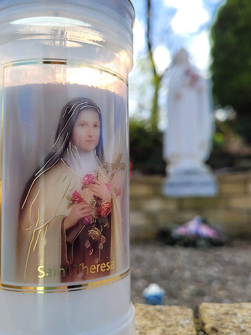 St Therese of Lisieux Candle