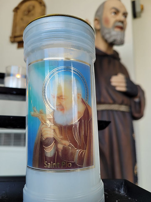 Tall St Padre Pio Candle