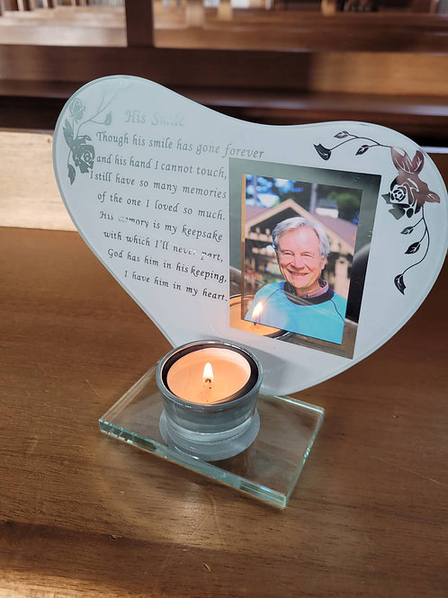 Remembrance Frame & Candle Holder